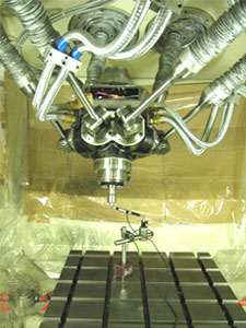 A parallel kinematics machine tool